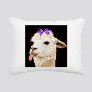 Alpaca or LLama? Rectangular Canvas Pillow